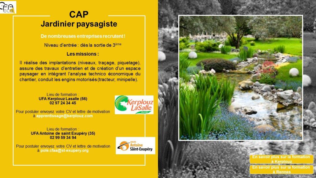 CAP Jardinier Paysagite